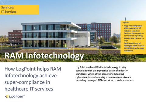 How LogPoint helps RAM Infotechnology achieve super-compliance in healthcare IT services