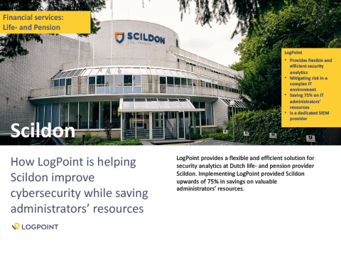 How LogPoint is helping Scildon improve cybersecurity while saving administrators' resources